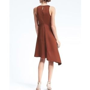 Banana Republic Copper Asymmetrical Midi Dress